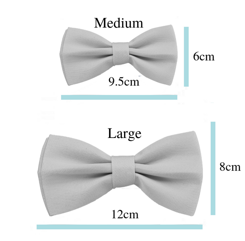 Coco & Pud Provence Rose Bow tie Size Chart
