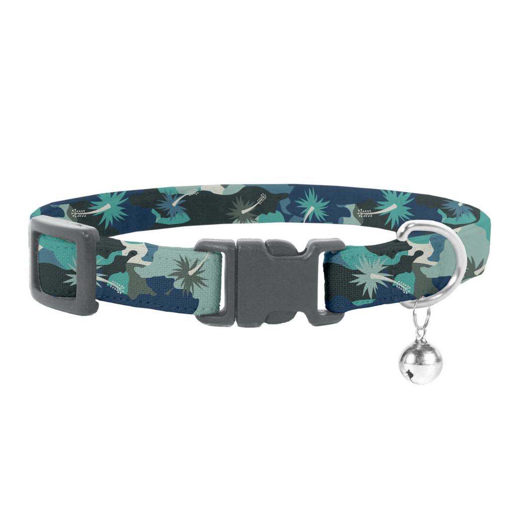 Coco & Pud Camo Hibiscus Cat Safety Collar