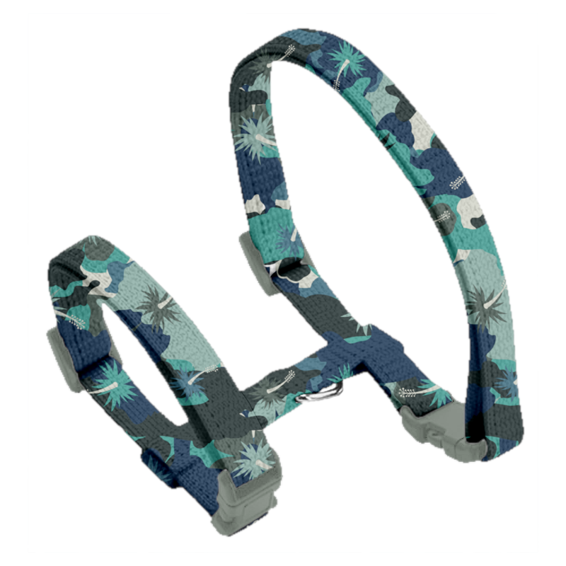 Coco & Pud Camo Hibiscus Cat harness