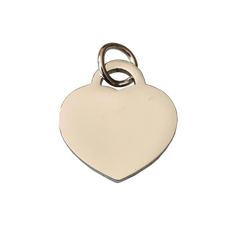 Coco & Pud Audrey Cat Heart ID Tag Silver