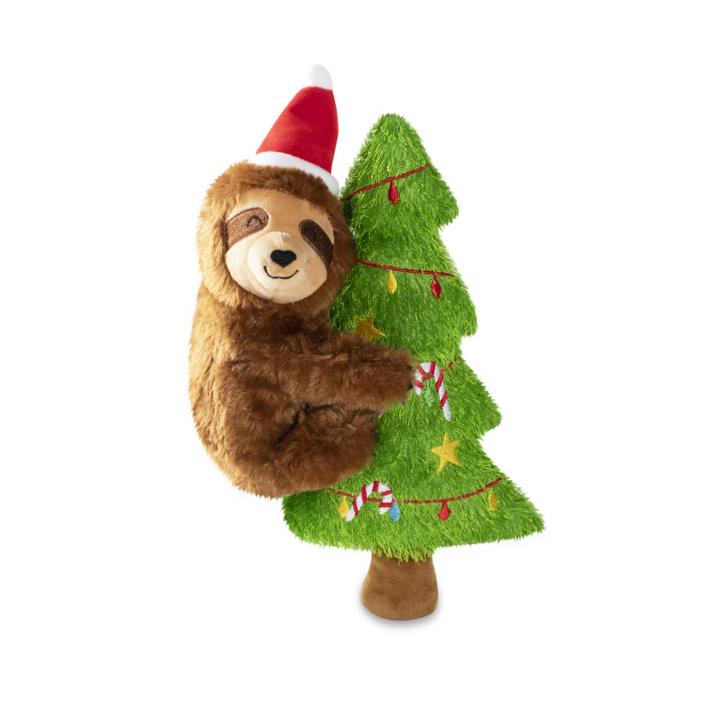 Fringe Studio Christmas Merry Sloth-mas Dog Toy - Coco & Pud