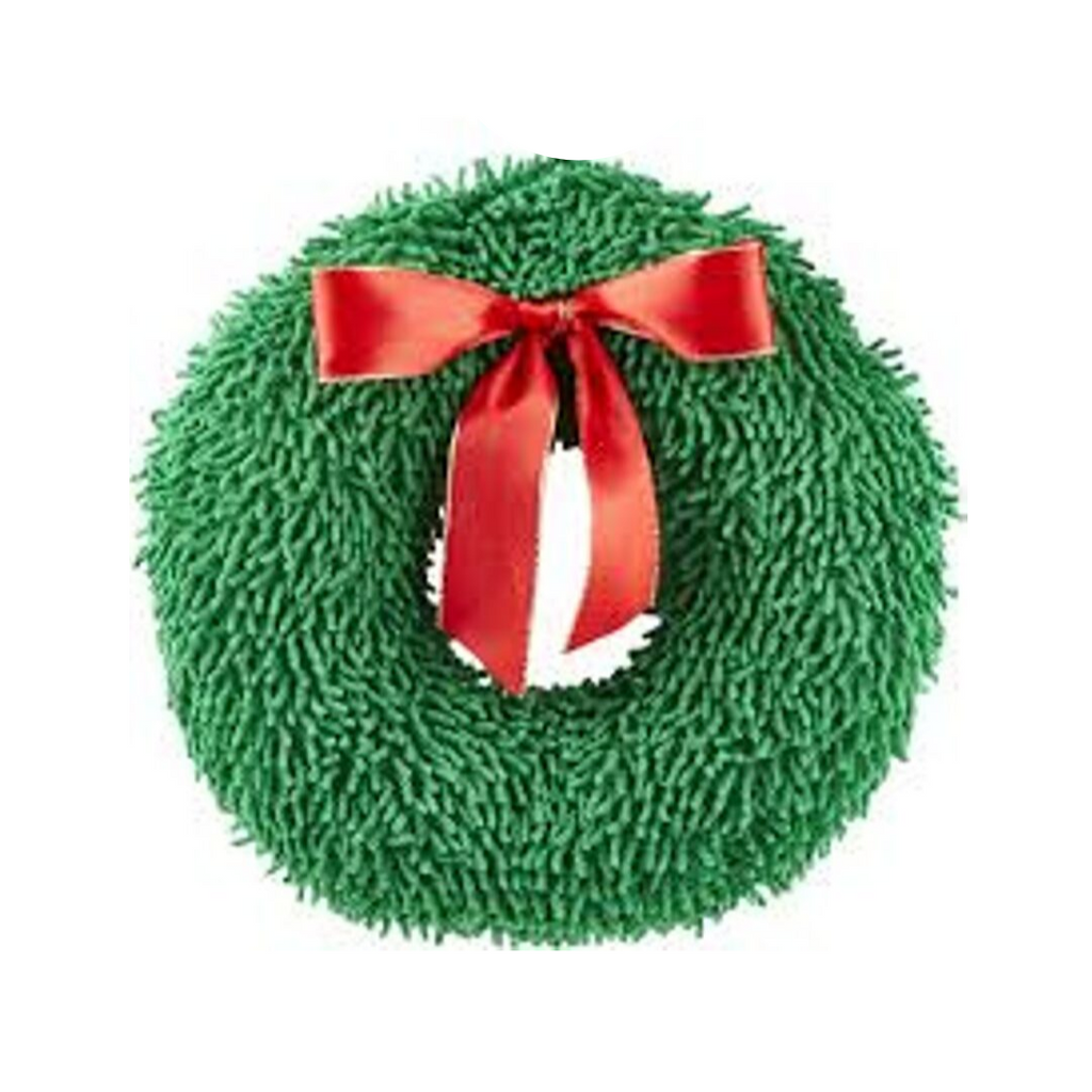 "Christmas Wreath Dog Toy 8"" - Coco & Pud"