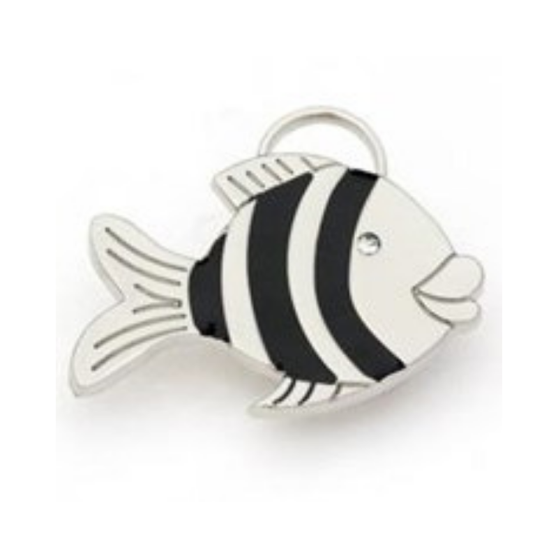 Coco & Pud Clown Fish ID Tag - Silver - Coco & Pud