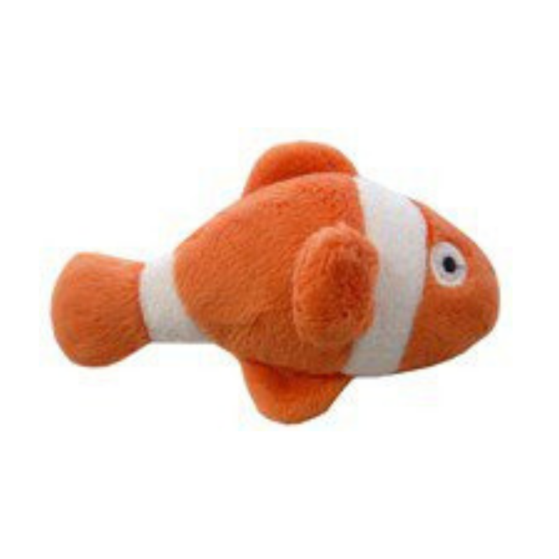 Coco & Pud Clown Fish Organic Catnip Toy - Orange - Coco & Pud