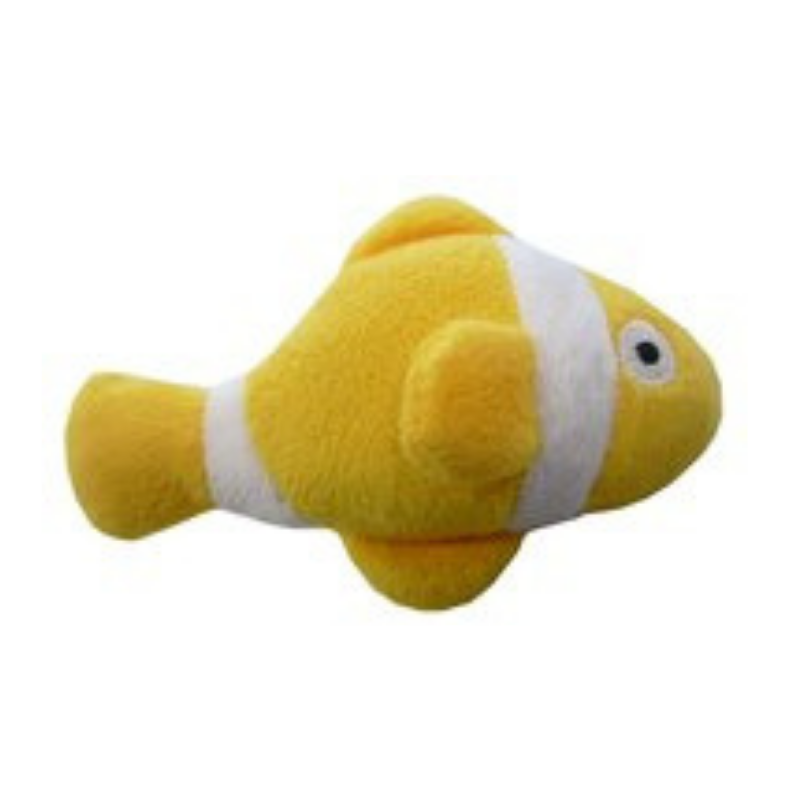 Coco & Pud Clown Fish Organic Catnip Toy - Yellow