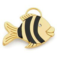 Coco & Pud Clown Fish ID Tag - Gold