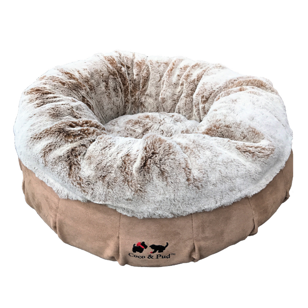 Coco Luxe Pet Bed  - Cafe Latte - Coco & Pud