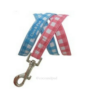 Gingham Harness - Blue Check - Coco & Pud