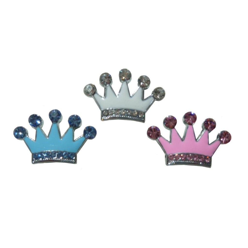 Coco & Pud Crystal Crown Slide Charm - 3 colours