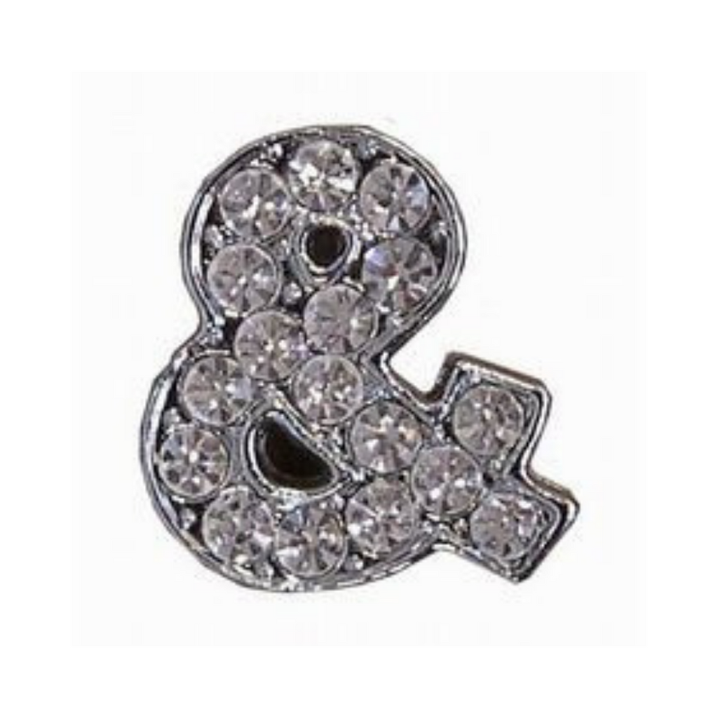 Coco & Pud Crystal & Ampersand Collar Slide Charm
