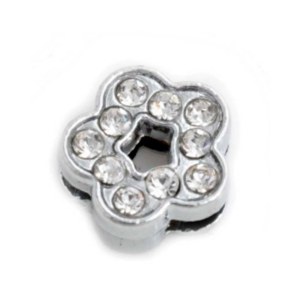 Crystal Flower Collar Slide Charm - Coco & Pud