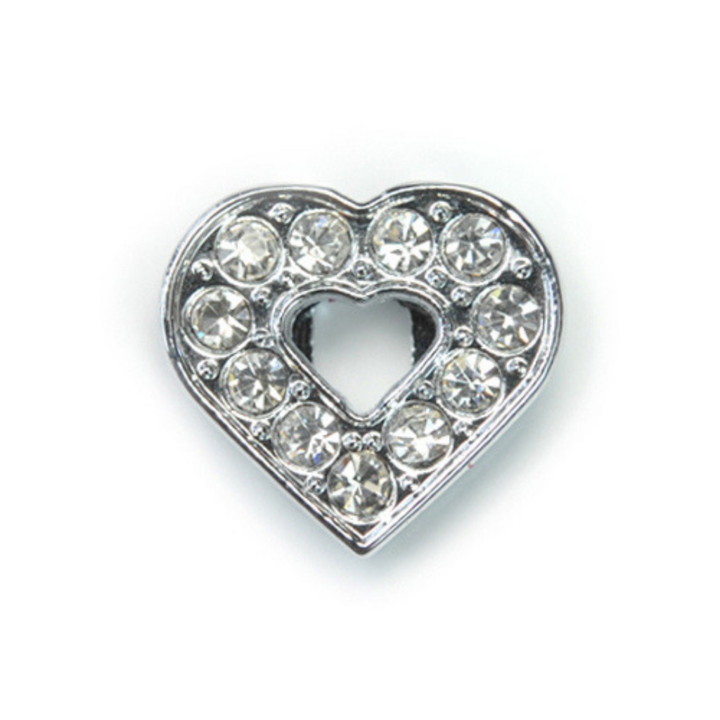 Crystal Heart Collar Slide Charm - Coco & Pud