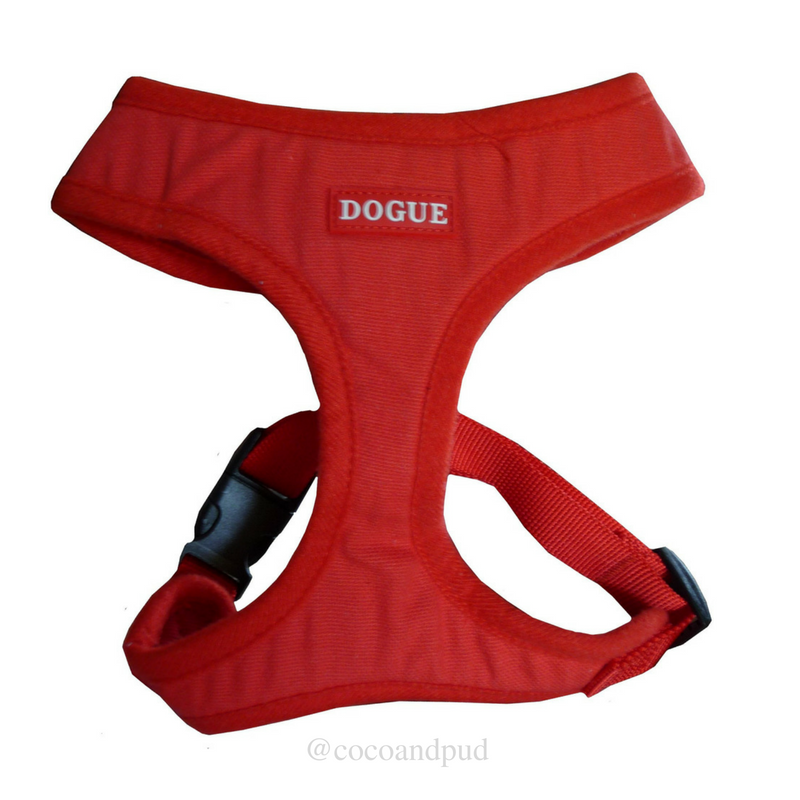 DOGUE Bold Canvas Dog Harness - Red - Coco & Pud