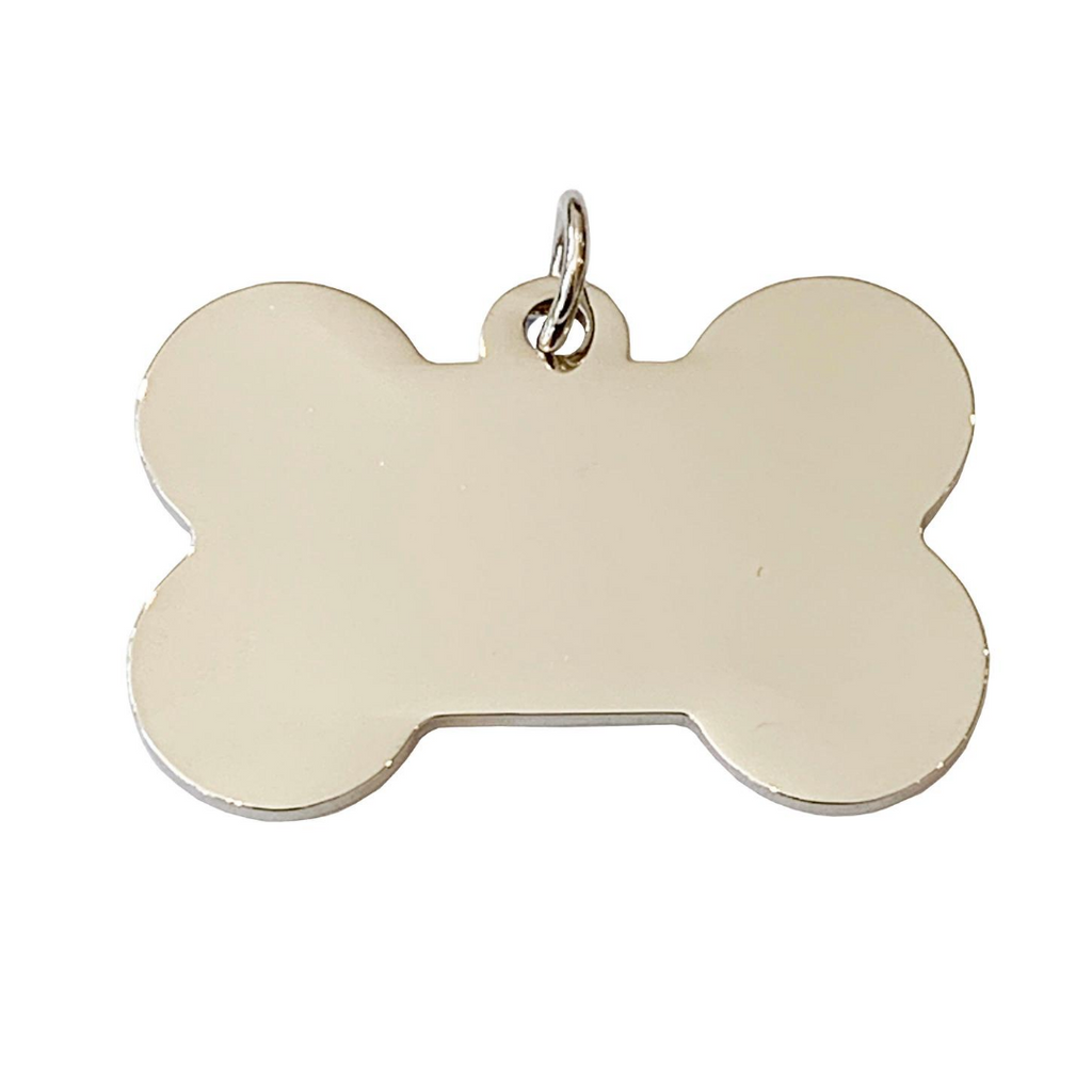Coco & Pud Bone Dog ID Tag Silver