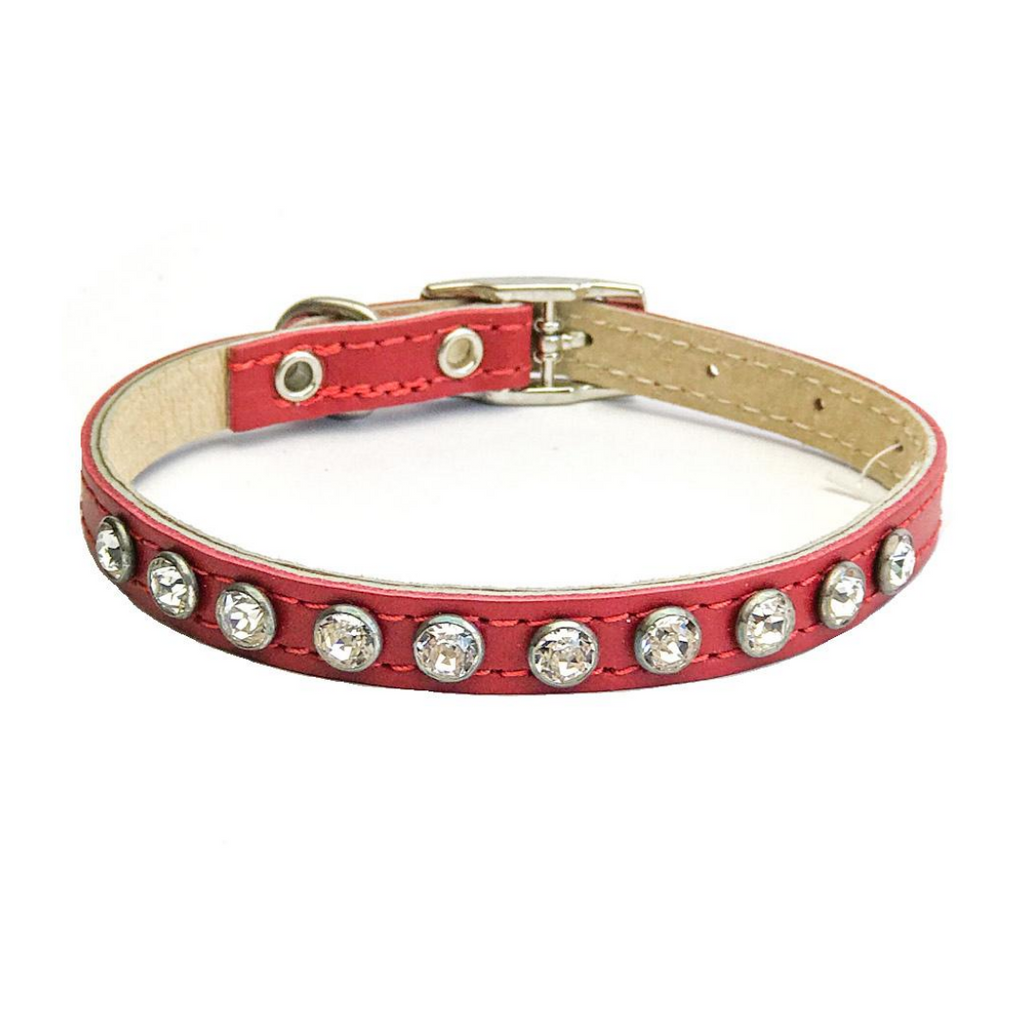 Dogue Glamour Puppy Collar - Red
