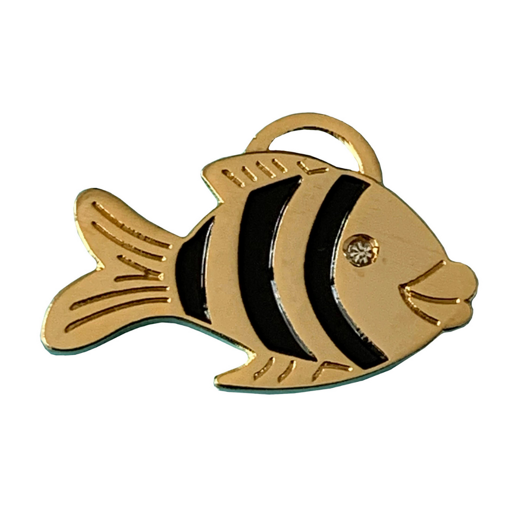 Coco & Pud Fish Cat ID Tag Gold