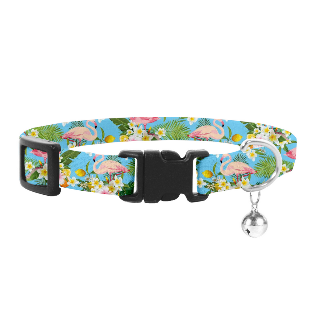 Coco & Pud Flamingo Tropical Cat Safety Collar