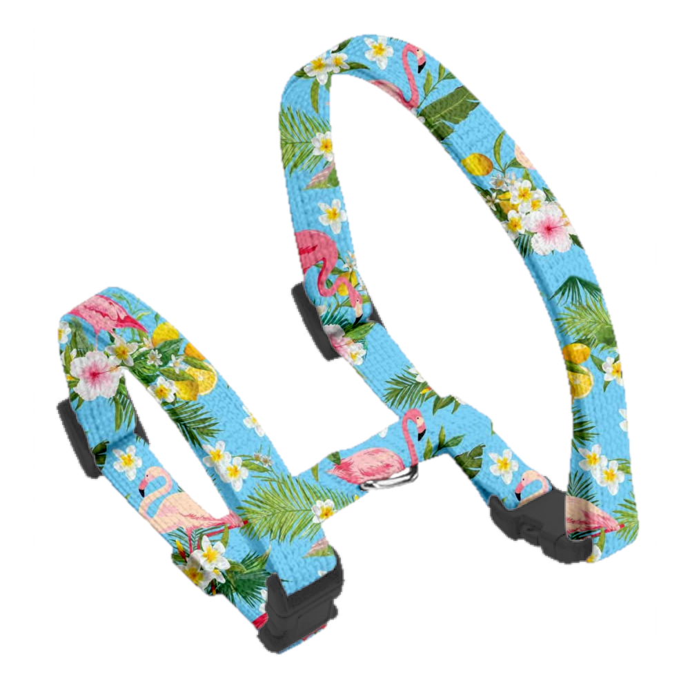 Coco & Pud Flamingo Tropical Cat Harness