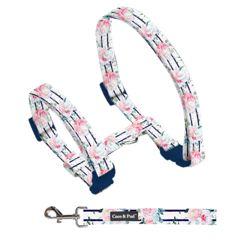 Coco & Pud Floral Blooms Cat Harness & Lead Set