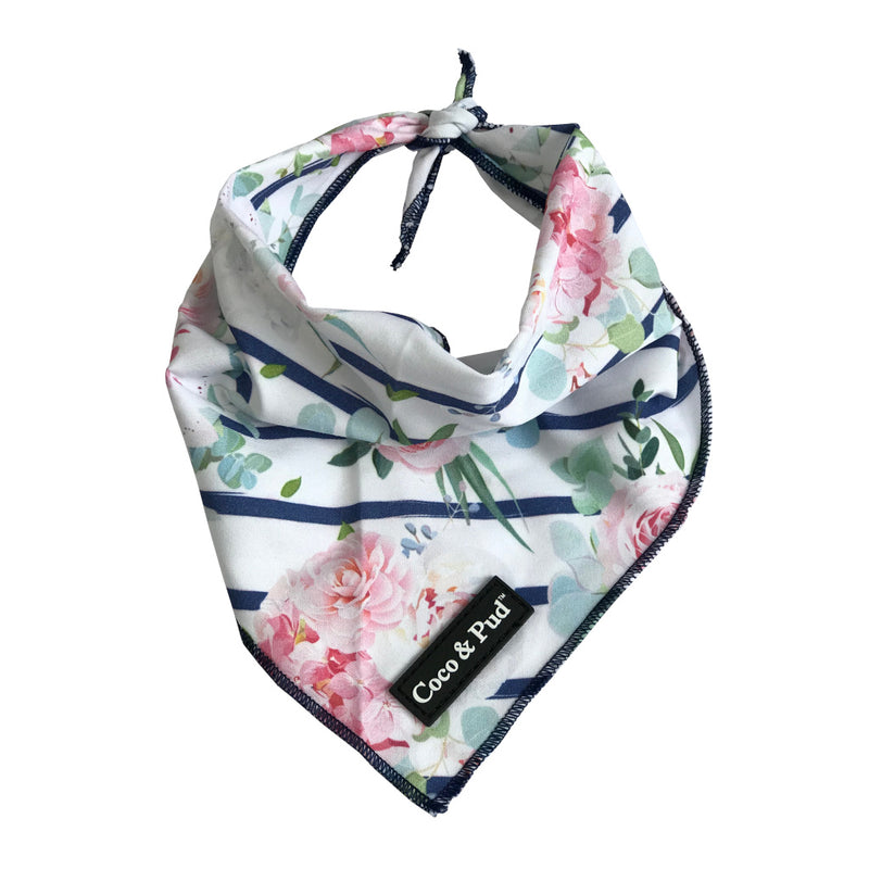 Coco & Pud Floral Blooms Cotton Cat Bandana