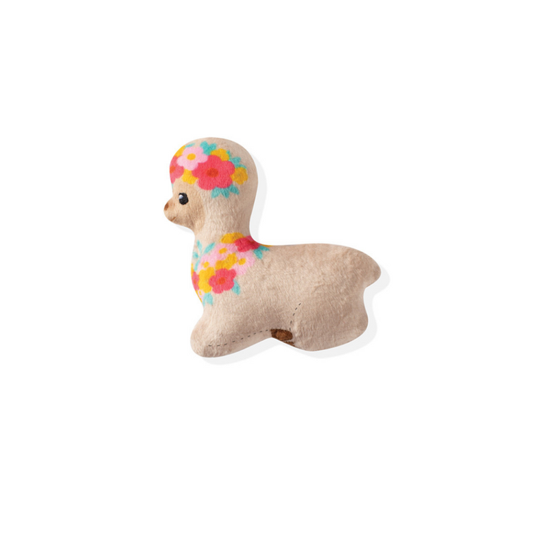 Fringe Studio Floral Llama Small Dog Toy - Coco & Pud