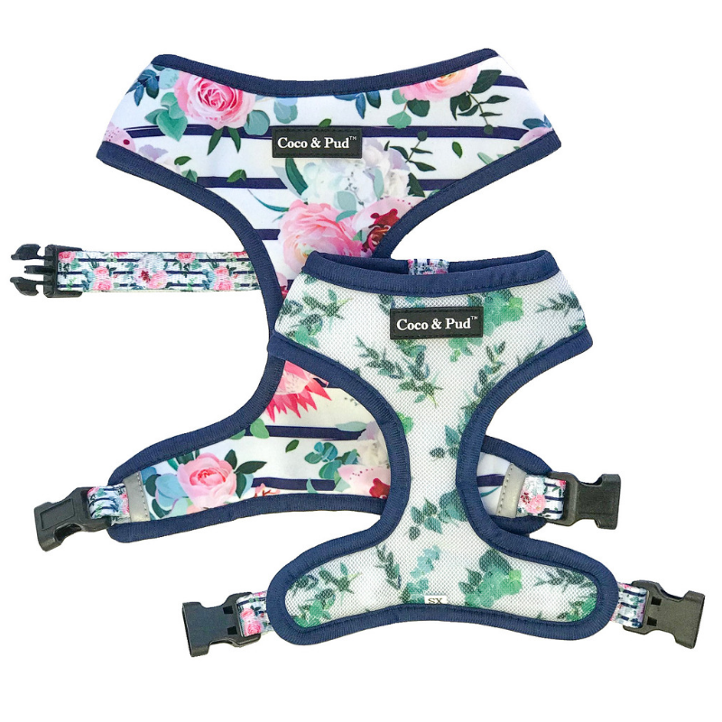 Coco & Pud Floral Blooms Reversible Harness