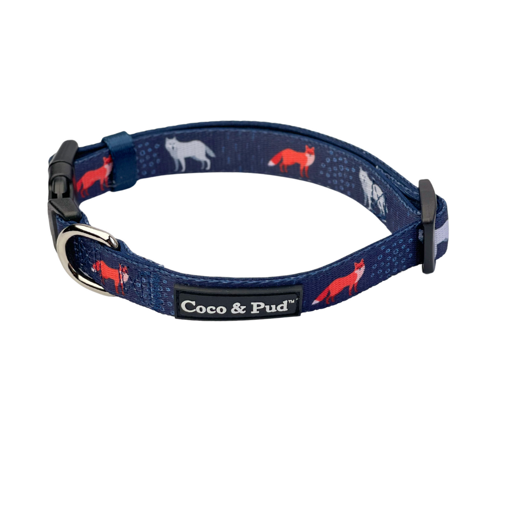 Coco & Pud Fox & Friends Dog Collar
