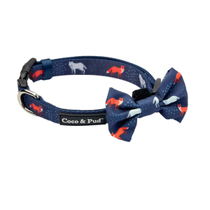 Coco & Pud Fox & Friends Collar & Bow tie