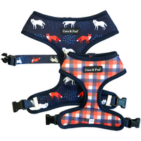 Coco & Pud Fox & Friends Reversible Dog Harness