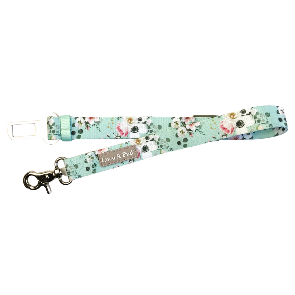 Coco & Pud French Azure Dog Car Seat Belt Restraint