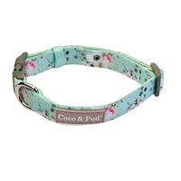 Coco & Pud French Azure Dog Collar
