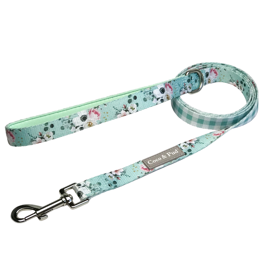 Coco & Pud French Azure Reversible Dog Lead