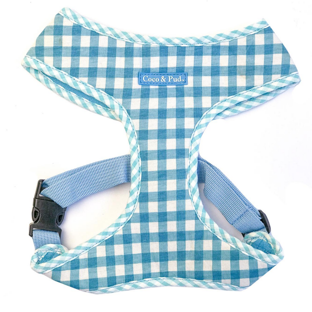 Coco & Pud Gingham Harness Blue