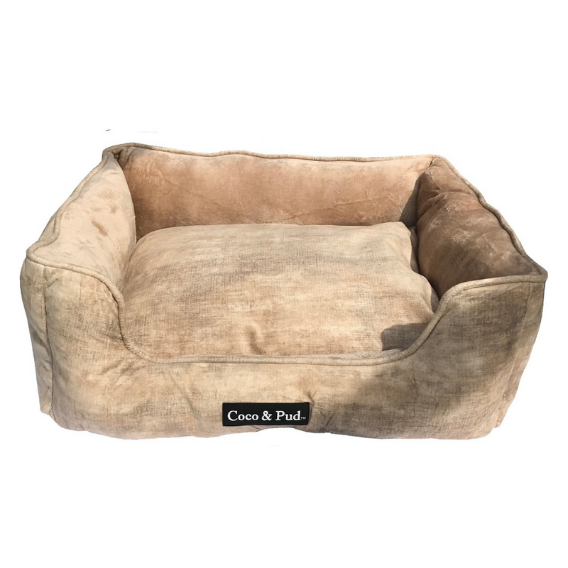 Coco & Pud Greenwich Luxe Lounge Bed - Coffee - Coco & Pud