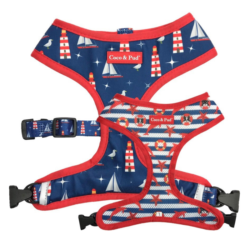 Coco & Pud Hamptons Reversible Dog Harness