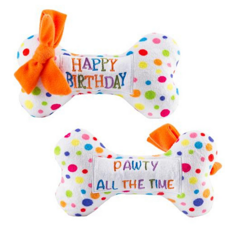 Coco & Pud Happy Birthday Bone Dog Toy