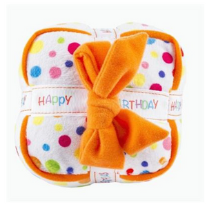 Coco & Pud Happy Birthday Gift Box Dog Toy top