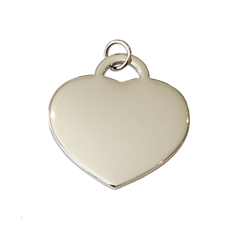 Coco & Pud Audrey Heart Dog ID Tag Silver
