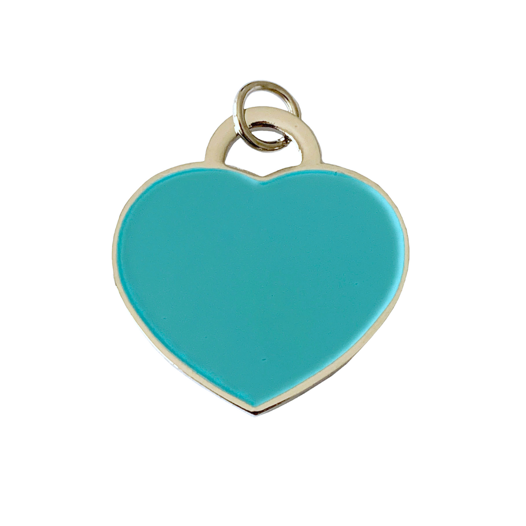 Coco & Pud Audrey Dog ID Tag - Silver/Teal
