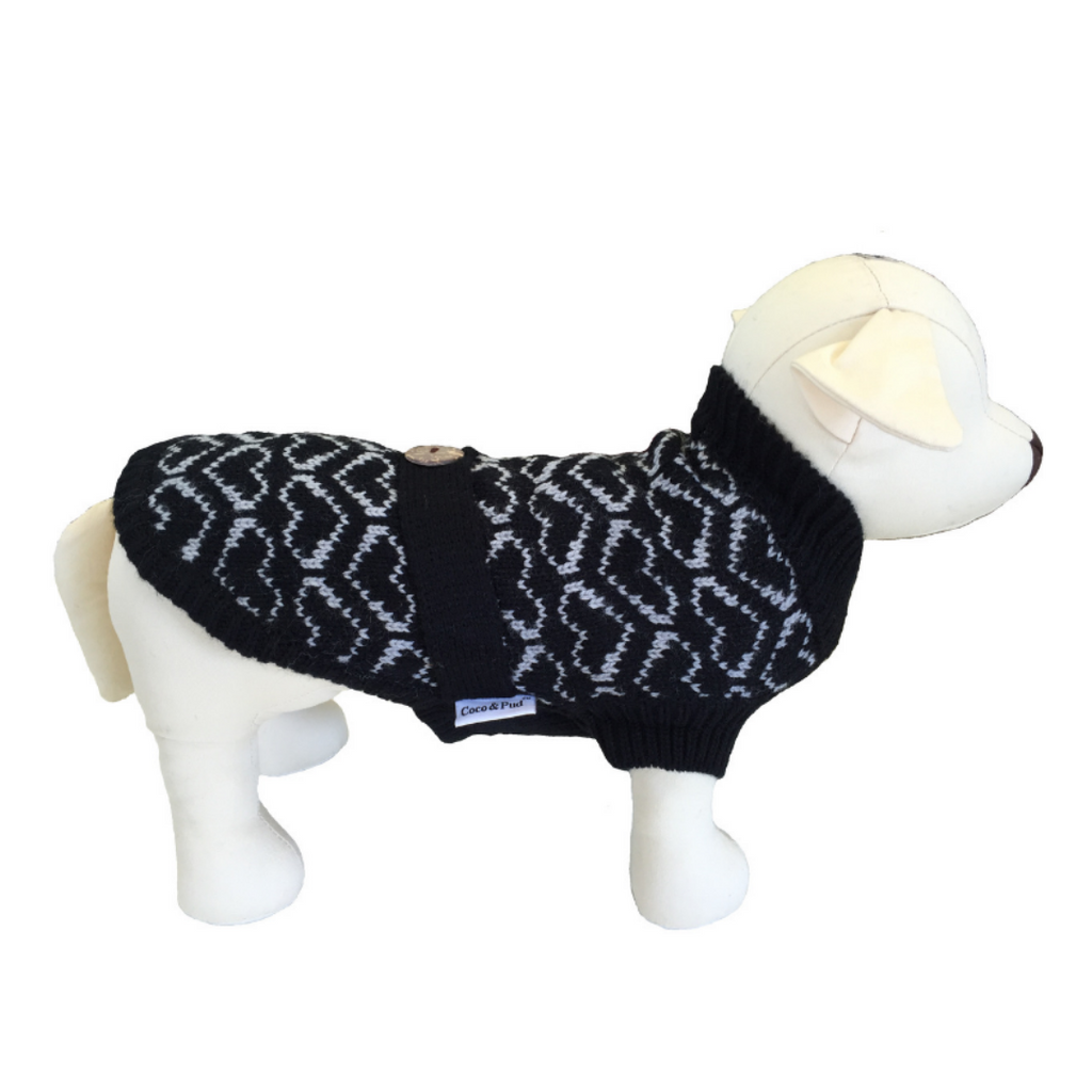 Coco & Pud Heart Dog Sweater - Coco & Pud