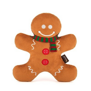 Holiday Classic Holly Jolly Gingerbread Man Dog Toy - Coco & Pud
