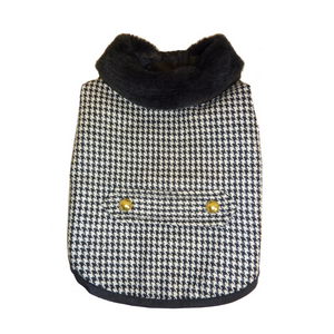 Coco & Pud Houndstooth Dog Coat