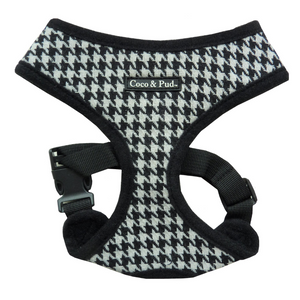 Coco & Pud Houndstooth Dog Harness - Black & White - Coco & Pud