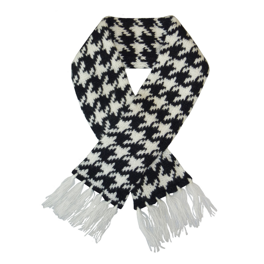 Houndstooth Pet Scarf - Black & White