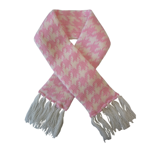 Coco & Pud Houndstooth Pet Scarf - Pink & White - Coco & Pud