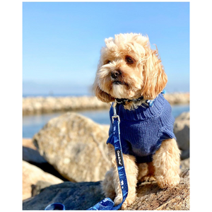 Coco & Pud Coco Cable Pet Sweater Navy