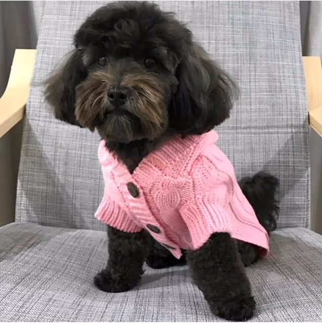 Edinburgh Dog Sweater - Light Pink