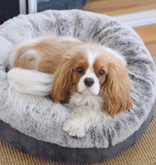 Coco Luxe Pet Bed - Stone Grey