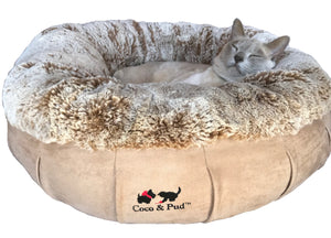 Coco & Pud Coco Luxe Pet Bed  - Cafe Latte - Coco & Pud