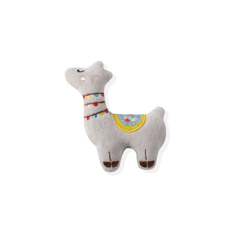 Fringe Studio Light Grey Llama Small Dog Toy